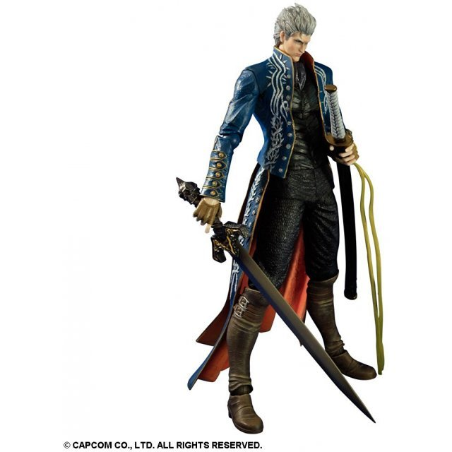 Devil May Cry 3 Non Scale Pre-Painted PVC Play Arts Kai Statue: Vergil