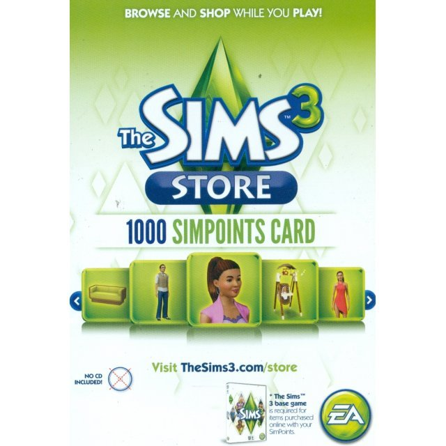 The Sims 3: Store (1,000 Points Retail Card)