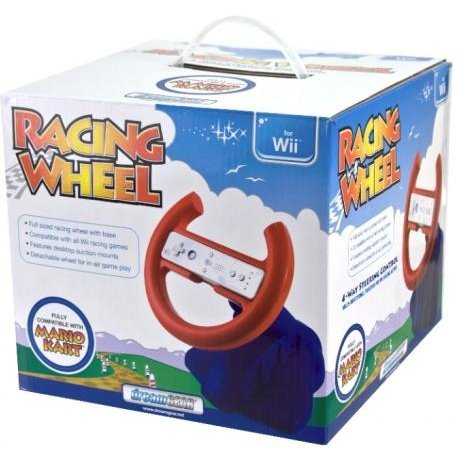 DreamGear Racing Wheel In New Gift Box (Red and Blue)