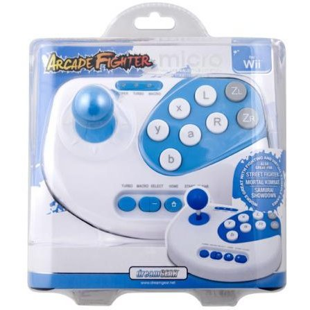 DreamGear Arcade Fighter Micro - White and Blue
