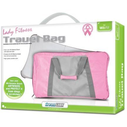 DreamGear Travel Bag - Pink and Gray