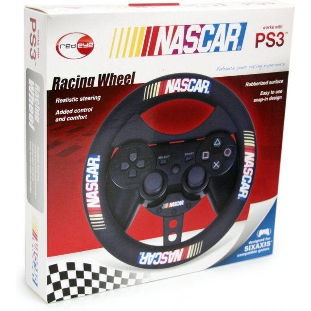 DreamGear NASCAR Racing Wheel (Rubberized Black)
