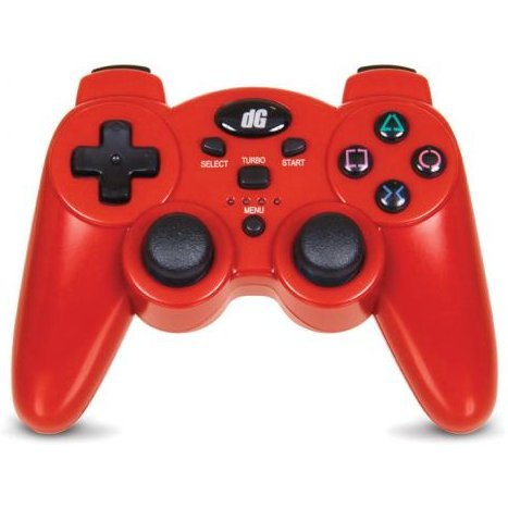 DreamGear Radium Wireless Controller with SIXAXIS (Metallic Red)