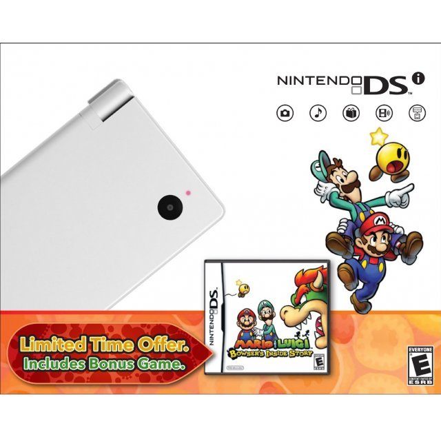 Nintendo DSi with Mario & Luigi Bundle (White)