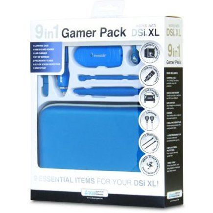 DreamGear 9 in 1 Gamer's Pack - Midnight Blue