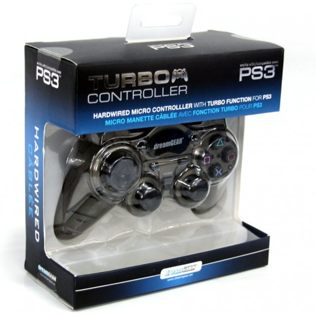 DreamGear Turbo Wired Controller (Smoke Black)