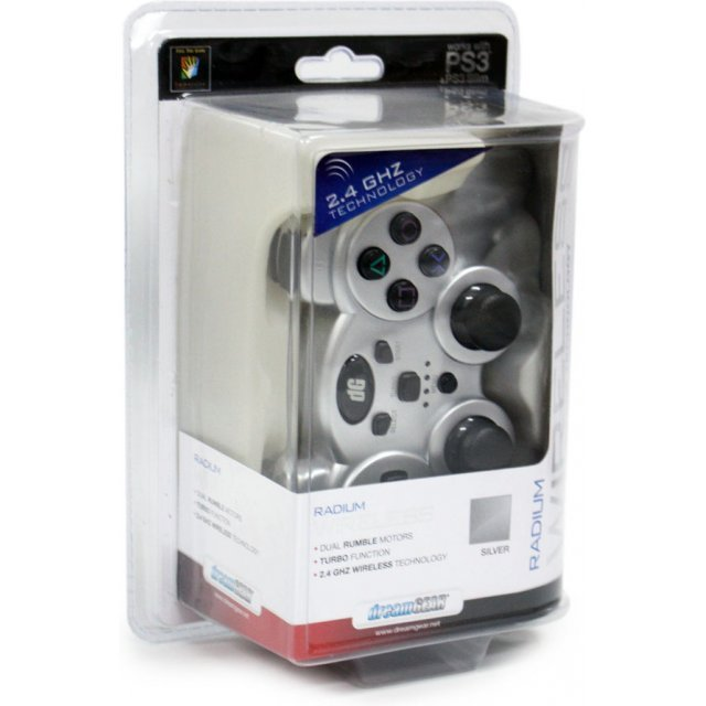 DreamGear Radium Wireless Controller with Dual Rumble Motors (Silver)