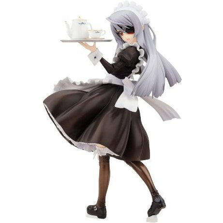Infinite Stratos 1/8 Scale Pre-Painted PVC Figure : Laura Bodewig Maid Ver.