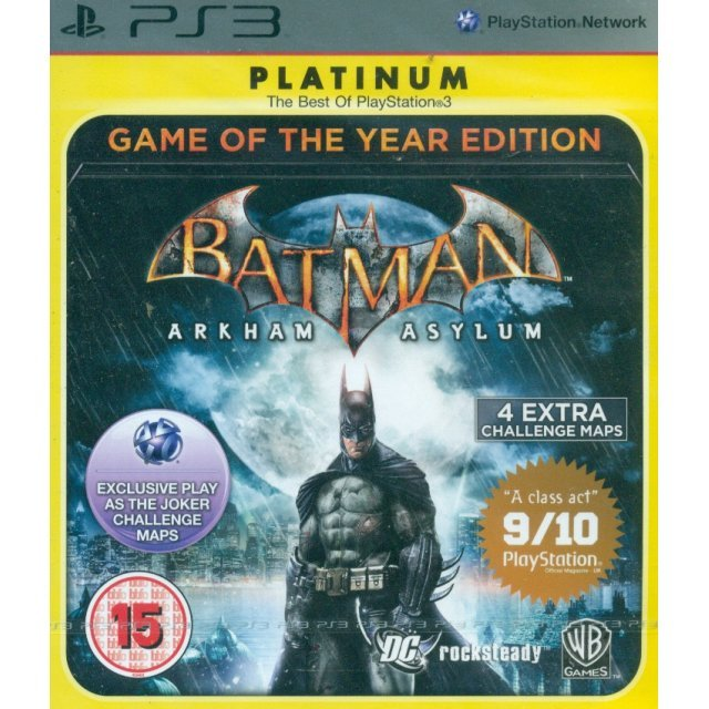 Batman: Arkham Asylum (Game of the Year Edition - Platinum)