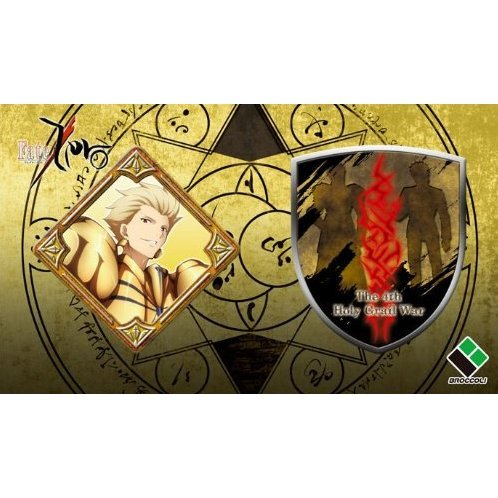 Fate/Zero 2 pieces Pin Badge: New Archer Team