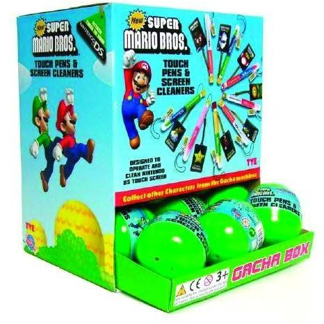 Gacha Balls Mario Touch Pens & Screen Cleaners