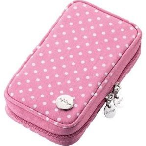3DS Canvas Case (Pink Dot)