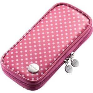 PSP Vinyl Coating Case (Pink Dot)