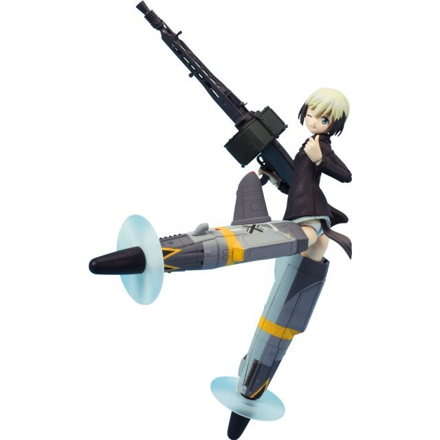 Strike Witches 2 Armor Girls Project Non Scale Pre-Painted PVC Figure: Erica Hartmann