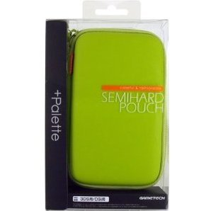 +Palette Semi Hard Pouch for 3DS (Lime Green)