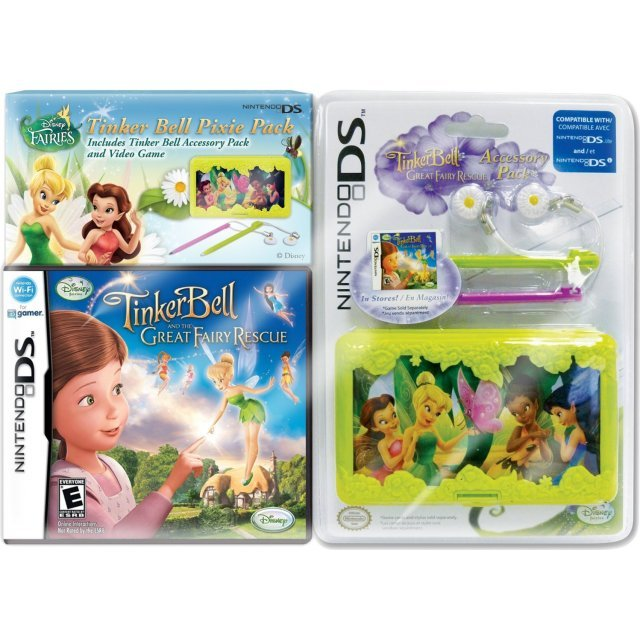 Disney Fairies: Tinker Bell and the Great Fairy Rescue with Case Bundle