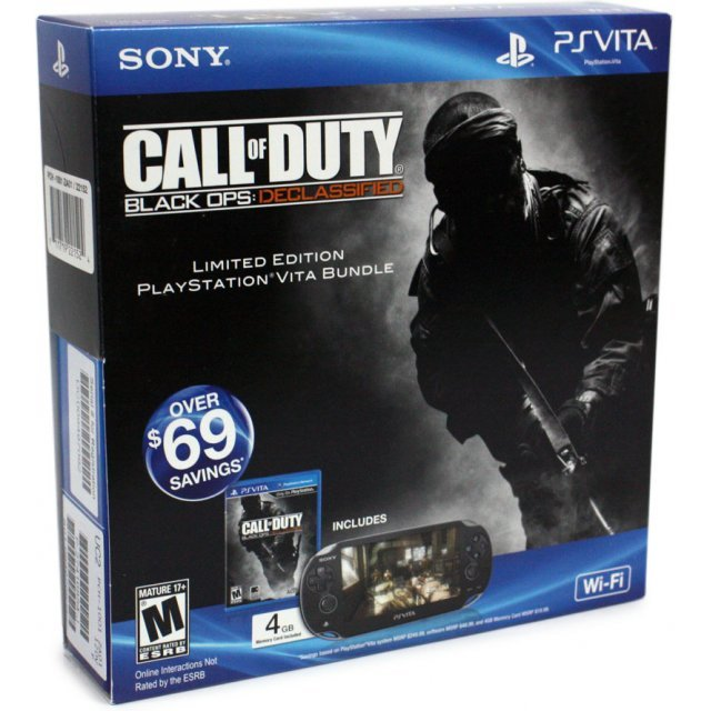 PS Vita PlayStation Vita - Call of Duty: Black Ops Declassified Wi-Fi Model (Black)