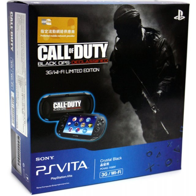 PS Vita PlayStation Vita - Call of Duty: Black Ops Declassified 3G/Wi-Fi Model (Black)