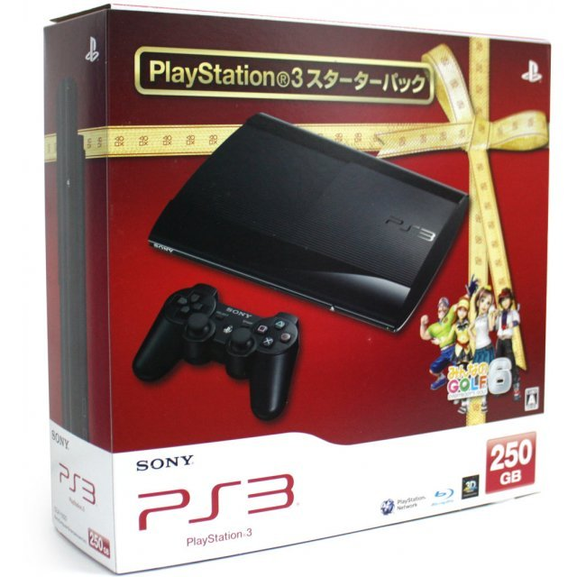 PlayStation3 New Slim Console - Minna no Golf Starter Pack (250GB Charcoal Black Model)