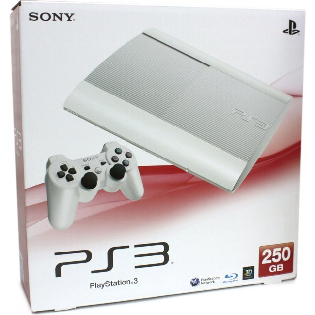 PlayStation3 New Slim Console (250GB Classic White Model) - 220V