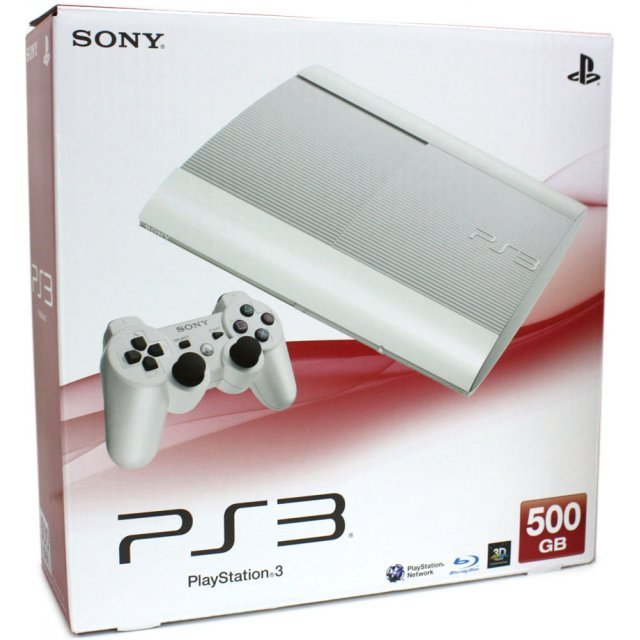 PlayStation3 New Slim Console (500GB Classic White Model) - 220V