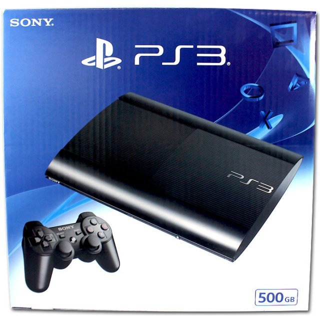 PlayStation3 New Slim Console (500GB Charcoal Black Model) - 220V