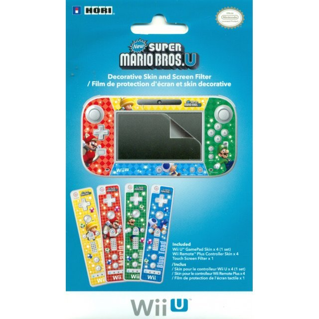 Wii U Game Pad Skin & Filter Set (New Super Mario Bros. U Version)
