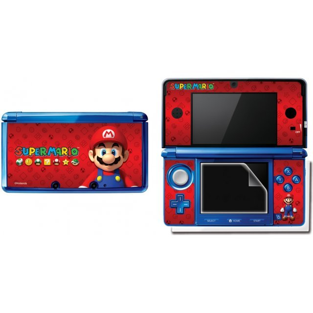 3DS Super Mario Screen Filter and Skin Set (Assorted)
