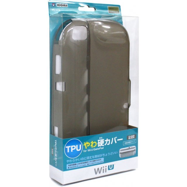 TPU Yawakata Cover for Wii U GamePad (Clear Black)