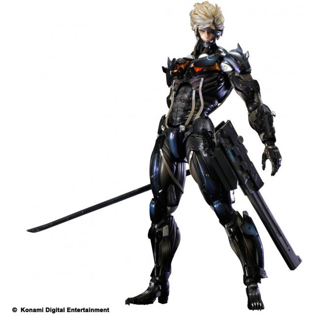 Metal Gear Solid Rising Revengeance Play Arts Kai Non Scale Pre-Painted PVC Figure: Raiden