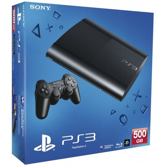 PlayStation3 New Slim Console (500GB Charcoal Black Model)