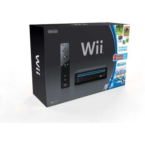 Nintendo Wii Bundle (incl. Wii Sports & Wii Sports Resort) (Black)