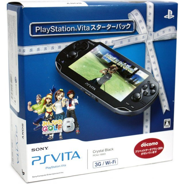 PSVita PlayStation Vita - 3G/Wi-Fi Model (Starter Pack w/ Minna no Golf 6)