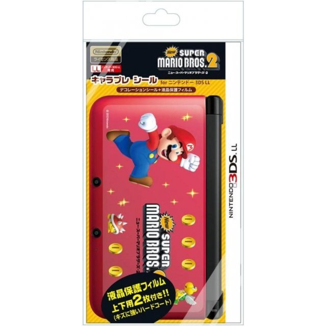 Chara Pure Seal New Mario 2 for 3DS LL (Type C)