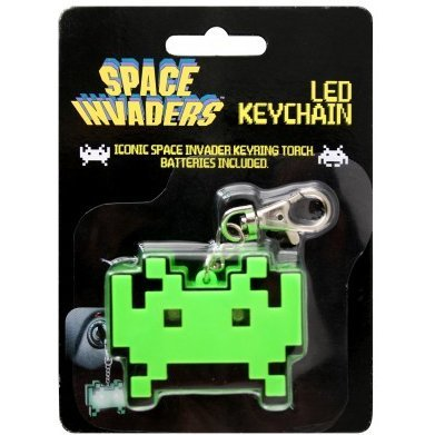 50Fifty Concepts Space Invaders LED Keychain