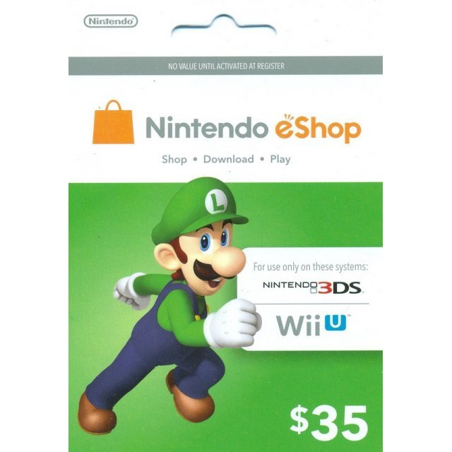 Nintendo Prepaid Card (US$35 / for US network only)