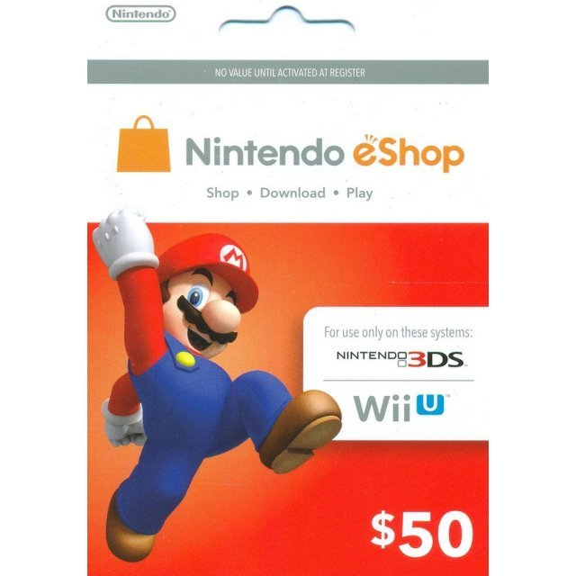 Nintendo Prepaid Card (US$50 / for US network only)