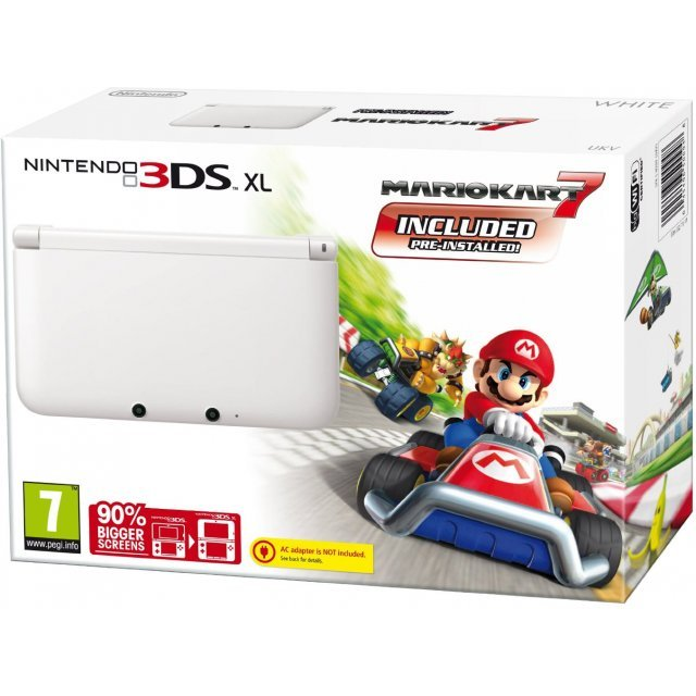Nintendo 3DS XL (Mario Kart 7 White Edition)