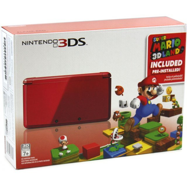 Nintendo 3DS (with Super Mario 3D Land Flame Red Edition Pre-Installed)
