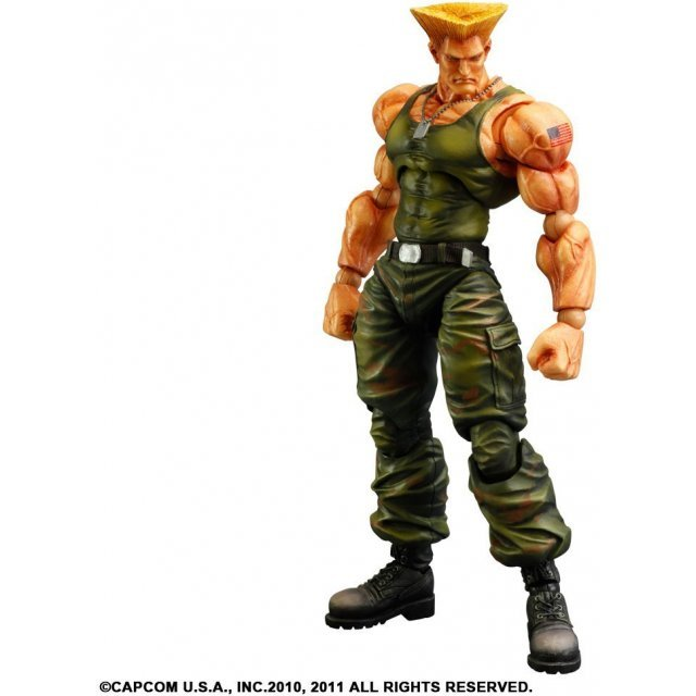 Super Street Fighter IV Play Arts Kai Arcade Edition Vol.3 Non Scale Pre-Painted PVC Figure: Guile