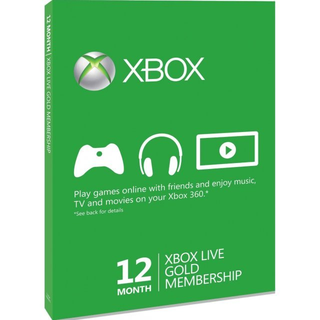 Xbox Live 12-Month Subscription Gold Card
