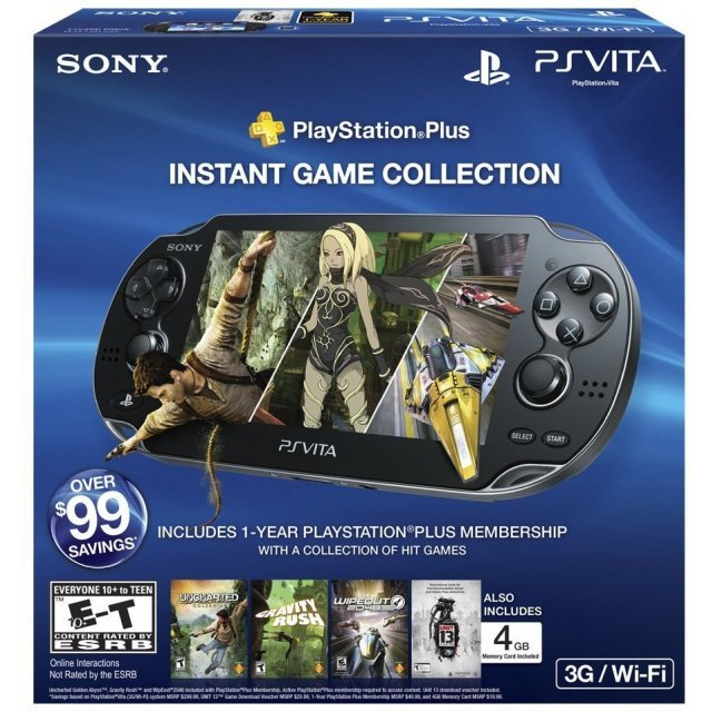 PS Vita PlayStation Vita - 3G/Wi-Fi Model (Playstation Plus Instant Game Collection Bundle)