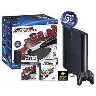 Sony Playstation 3 (250GB) Holiday Bundle - Need For Speed: Most Wanted and Burnout Paradise
