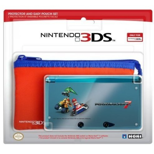 3DS Protector and Easy Pouch Set (Mario Kart 7 Version)