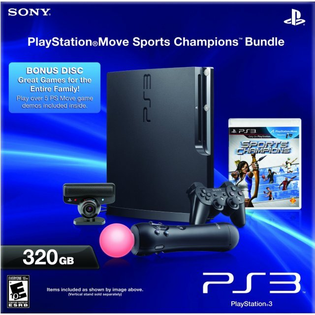 PlayStation3 Move Console (320GB Black) - Sports Champions Bundle