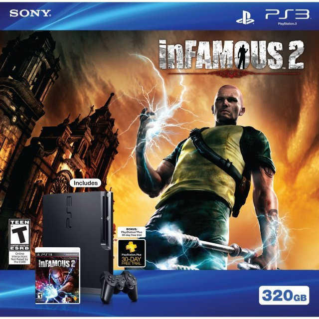PlayStation3 Slim Console (320GB Black) - InFamous 2 Collector's Edition Bundle