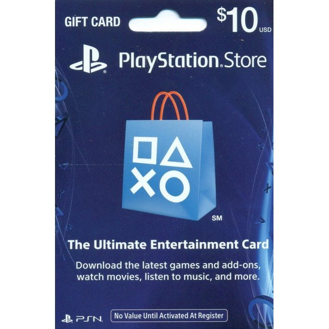PlayStation Network Card (US$ 10 / for US network only)