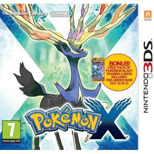 Pokemon X (Comes with Plasma Blast Game Cards)