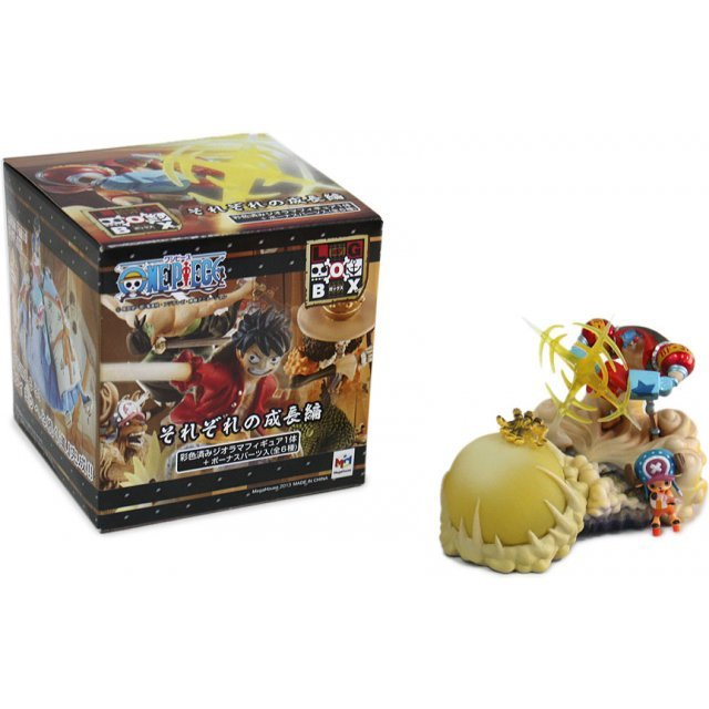 One Piece Logbox Respective Growth Pre-Painted PVC Trading Figure (Radom Single)