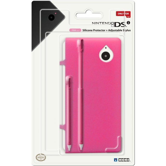 Silicone Protector + Adjustable Stylus Set for DSi (Pink)